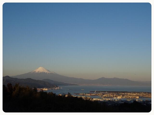 日本平山頂からの富士山!!