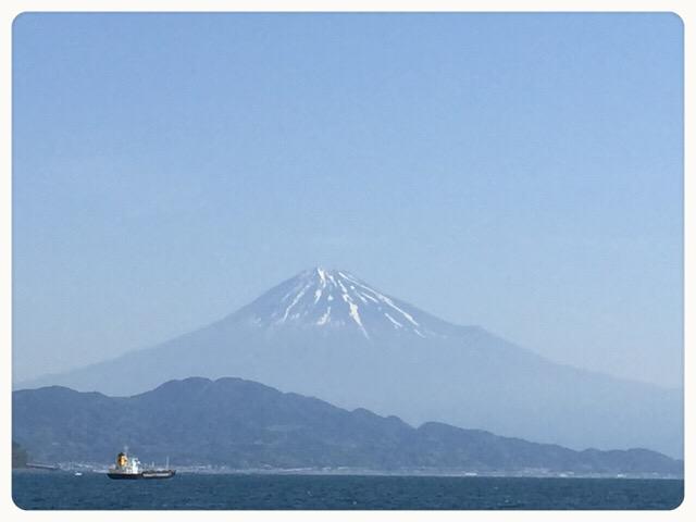三保からの富士山!!